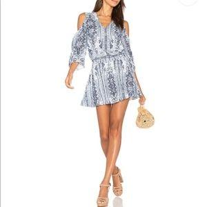 Alice Olivia Cold Shoulder Mini Dress Paisley 6